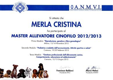 MASTER ALLEVATORE CINOFILO 2012/2013