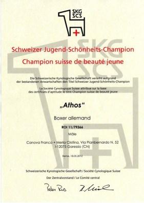 Athos (Garexium) Campione giovane svizzero